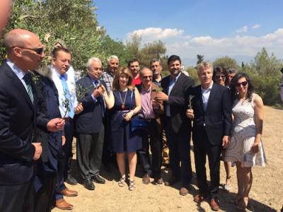 left to right:StefanosN. Kales,Vasilios Kokkalis, George David, Eleni Melliou, Diomedes Logothetis, Prokopios Magiatis, Dan Flynn, Eleni Zotou.