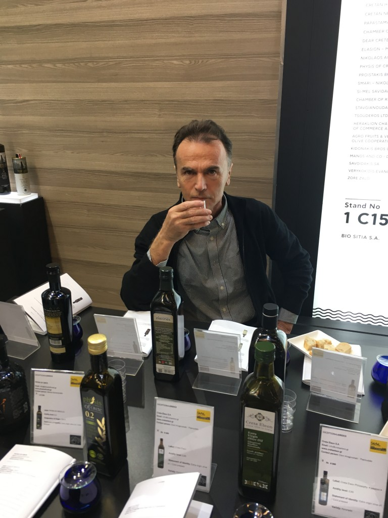 Athan tasting EVOO at sial paris 2018