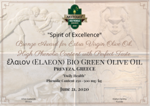 Elaeon Bio Green Olive Oil