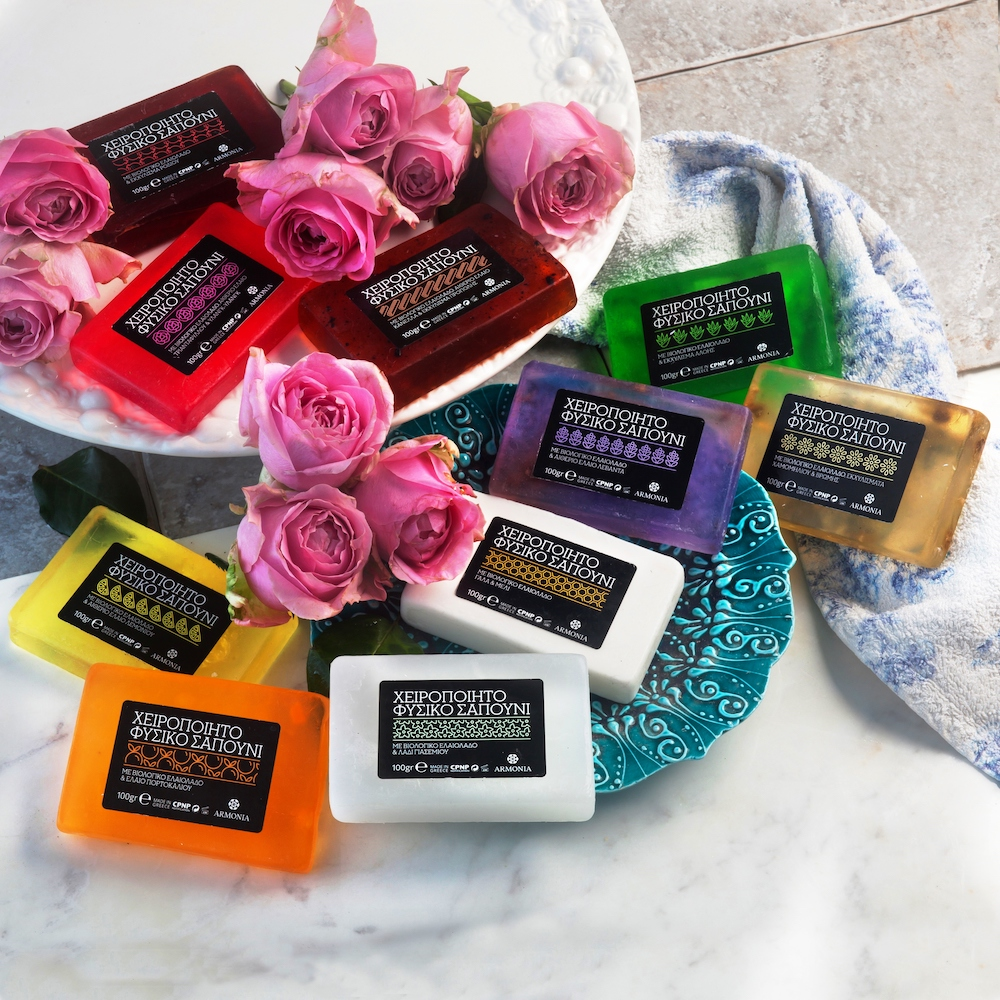 Estique Natural Olive Oil Soaps summer flowers inspire beauty
